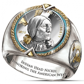 All-New Spirit Of The West Indian Head Coin Men's Ring