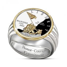 Alfred Durante Iwo Jima Commemorative Silver Proof Ring