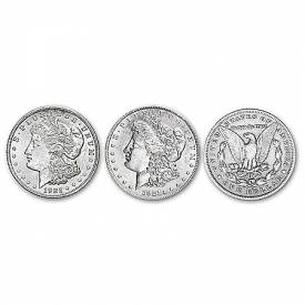 1921 Morgan Silver Dollar Reeded Edge Variety Coin Set