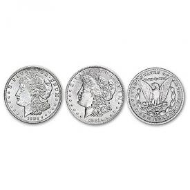 1921 Morgan Silver Dollar Reeded Edge Variety Coin Set