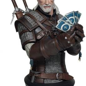 Witcher 3: Wild Hunt – Geralt Playing Gwent Bust