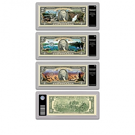 Official U.S. $2 National Parks Bills Currency Collection