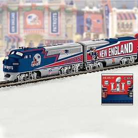 New England Patriots Express Collectible NFL Football Electric Train Collection