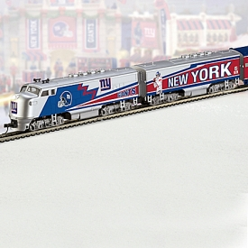 Collectible NFL Football New York Giants Express Electric Train Collection