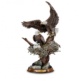 """Eagle Cam""-Inspired American Bald Eagle Sculpture Collection: Protectors Of The Nest"