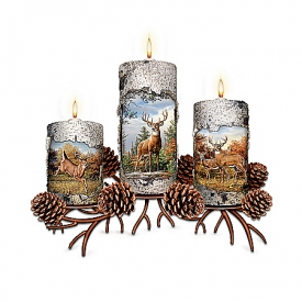 Deer Art Candleholder Collection: Pride Of The Forest