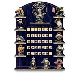 Collectible USMC Perpetual Calendar: USMC Wall Decor