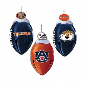 Auburn Tigers FootBells Christmas Ornament Collection