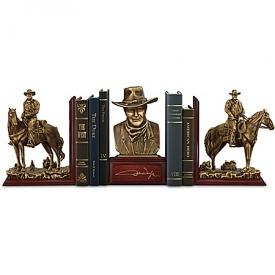 John Wayne: The Duke American Hero Cold-Cast Bronze Bookends Collection