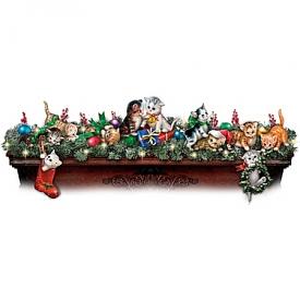 Making Merry Mischief Illuminated Christmas Garland Cat Collection
