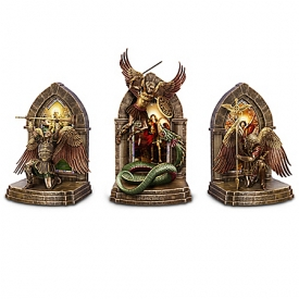 The Power And The Glory Cold-Cast Bronze Gothic Archangel Bookends Collection