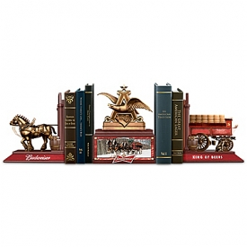 Budweiser Legacy Cold-Cast Bronze Bookends Collection