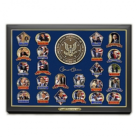 Presidential Legacy: Barack Obama 24K Gold-Plated Commemorative Pin Collection
