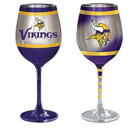 Minnesota Vikings NFL Wine Glass Collection