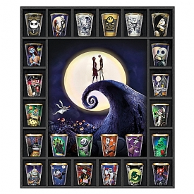 Disney Tim Burton's The Nightmare Before Christmas Toothpick Holders With Custom Wooden Display Case