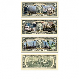 U.S. $2 Monuments Bills Collection With Display Box