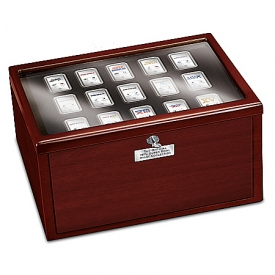 The Complete NFL Super Bowl Silver-Plated Ingot Collection With Deluxe Locking Display Case