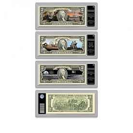 All-New U.S. History Vivid Full-Color $2 Bills Currency Collection