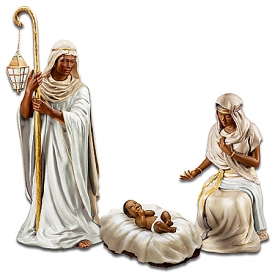 King Of Peace Nativity Figurine Collection: African-American Nativity Scene Set