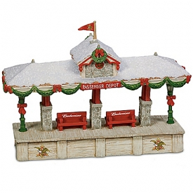 Budweiser Railroad Christmas Train Accessory Collection