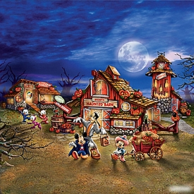 Disney Halloween Harvest Lighted Village Collection