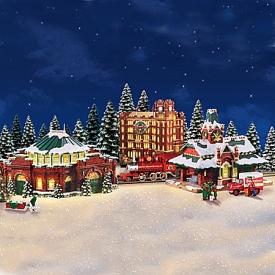 Budweiser Illuminated Holiday Village Collection