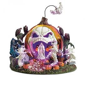 Haunted Pumpkin Handcrafted Light Up Sculpture Collection