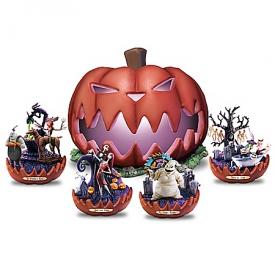 Disney Tim Burton's Nightmare Before Christmas Illuminated Pumpkin King Sculpture Collection