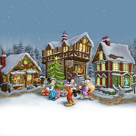Disney Mickey Mouse's Christmas Carol Illuminated Village Collection