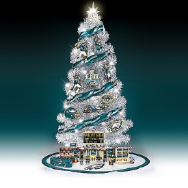 Philadelphia Eagles Super Bowl LII Illuminated NFL Christmas Tree Collection