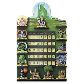 THE WIZARD OF OZ Perpetual Calendar Collection With Custom Display Rack