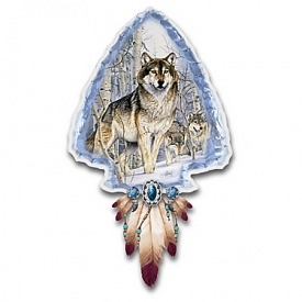 Al Agnew Guardians Of The Wild Illuminated Wolf Art Wall Decor Collection