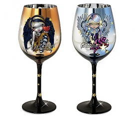 Jasmine Becket-Griffith Wings Of Enchantment Fairy Wine Glass Collection