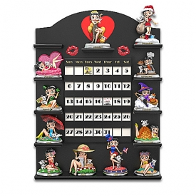 Betty Boop Sculpted Perpetual Calendar Collection With Custom Display Case