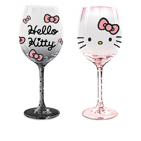 Hello Kitty Triple-Fired Wine Glass Collection