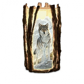 Al Agnew Visions Of The Wild Fully Sculpted Wolf Art Candleholder Collection