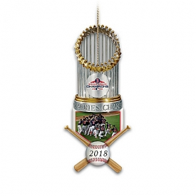 MLB World Series Champions Boston Red Sox Trophy Ornament Collection