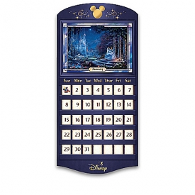 Thomas Kinkade Magical Seasons Of Disney Illuminated Stained Glass Perpetual Calendar Collection