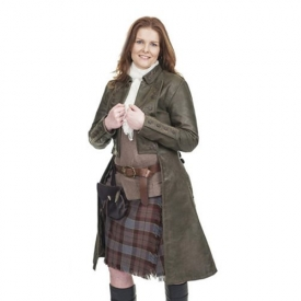 Outlander Jamie Fraser's Ladies Leather Coat