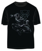 Black Panther Jungle Lord Previews Exclusive Black T-Shirt MED