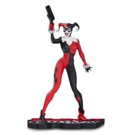 DC Comics Harley Quinn by Jim Lee Red Black and White Statue