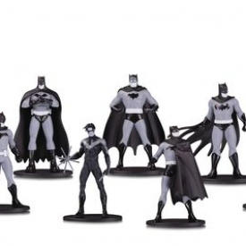 Batman Black & White Mini PVC Figure 7 Pack Set One