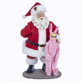 A Christmas Story Santa and Ralphie Table Piece Decoration