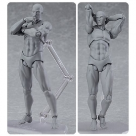 Male Gray Color Figma Archetype Next Action Figure