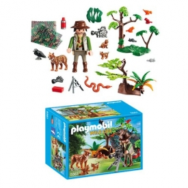 Playmobil 5561 Lynx Family with Cameraman Figures