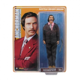 Anchorman Battle Ready Brian Fantana 8-Inch Figure, Not Mint