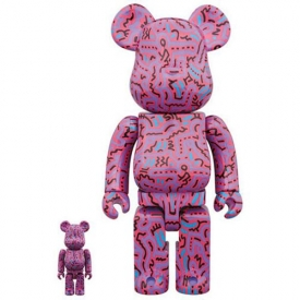 Keith Haring Design #2 100% and 400% Bearbrick Figures