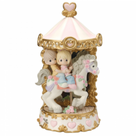 Love Makes The World Go 'Round Limited Edition Bisque Porcelain Sculpture