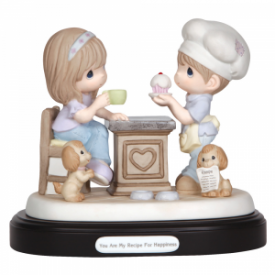 You Are My Recipe For Happiness Limited Edition Bisque Porcelain Sculpture