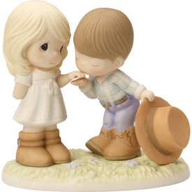 Would You Be My Pardner Bisque Porcelain Figurine